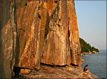 Agawa Rock on Lake Superior.