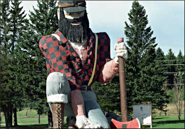 Paul Bunyan in Akeley.