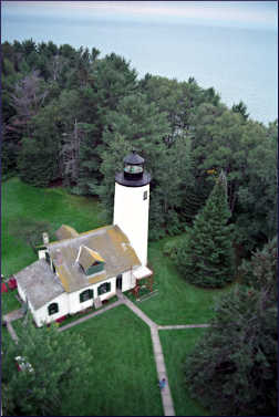The old lighthouse on Michigan Island.