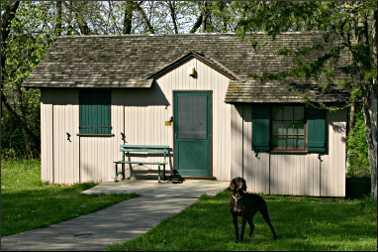 Park cabin in Iowa.