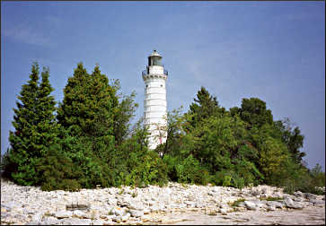 Cana Island Lighthouse near Baileys Harbor.
