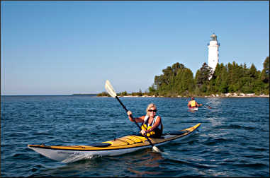 Kayaking near Baileys Harbor.