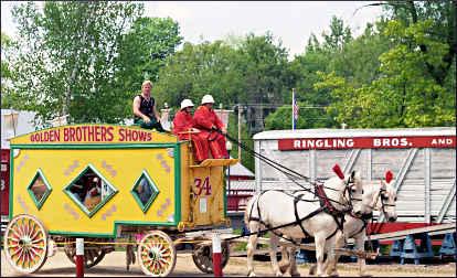 A daily parade at Circus World.