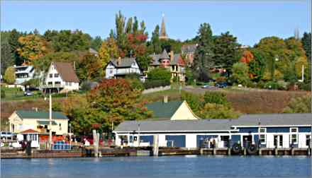 Bayfield as seen by the water.