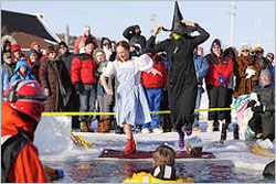 Polar plunge during Winter Festival.