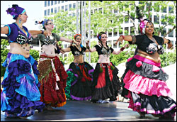 Belly dancers at Bastille Days.