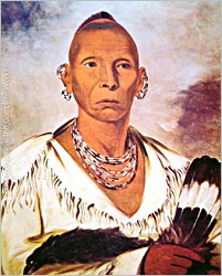 Black Hawk painted by George Catlin.