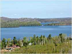 The view of Gunflint Lake from the Border Route.