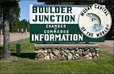 Boulder Junction's sign.