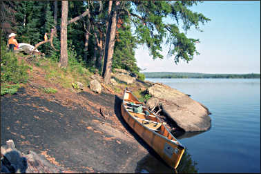 A campsite on Tuscarora Lake.