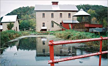 Near Caledonia, Schech's Mill was built in 1876.