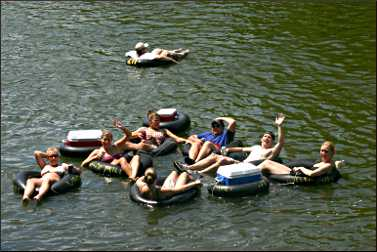 Tubing on the Cannon River.