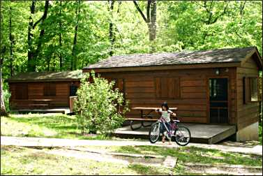 Cabins in Palisades-Kepler State Park.