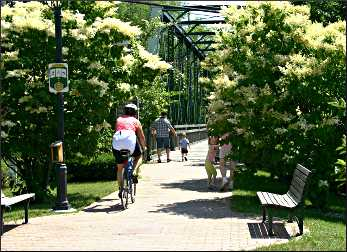 The Interurban Trail in Cedarburg.