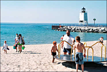 The beach at Charlevoix.