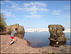 Skipping stones in Duluth.