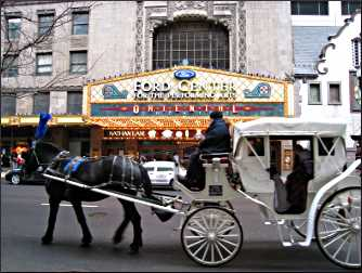 Horse-drawn carriage in Chicago.
