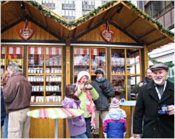 Drinking Gluehwein at a Christkindlmarkt.