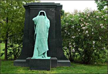 Statue in Graceland Cemetery.