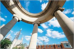 Columns in Greektown.