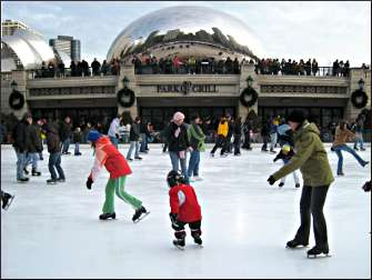 Skating in Millennium Park.