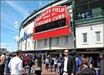 Wrigley Field in Chicago.