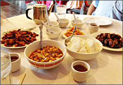 A food-tour stop in Chinatown.