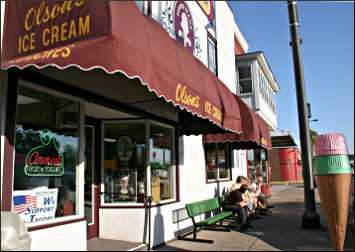 Olson's ice cream in Chippewa Falls.