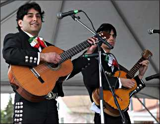 Guitarists at a Mexican fiesta.