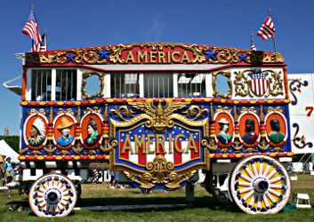 The America steam calliope at Circus World.