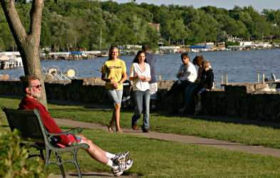 The Seawall in Clear Lake is a spot to stroll and linger.