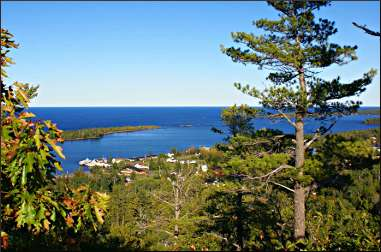 Copper Harbor in the fall.