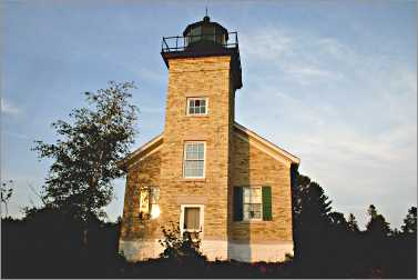 Copper Harbor Lighthouse can be reached only by water.