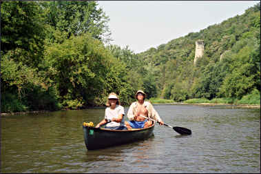 Canoeists on the Upper Iowa River.