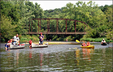 Canoeing on the Upper Iowa River.