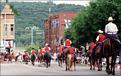 The Nordic Fest parade in Decorah.