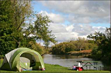 A campsite on the Upper Iowa River.