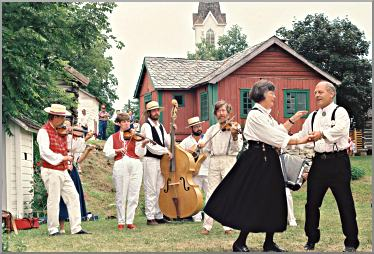 During Nordic Fest, dancers gather at Vesterheim.