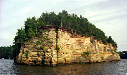 Lower Dells on the Wisconsin River.