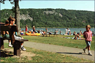 The beach at Devil's Lake.