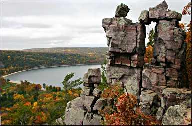 Fall in Devil's Lake State Park.