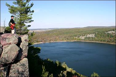 A view in Devil's Lake State Park.