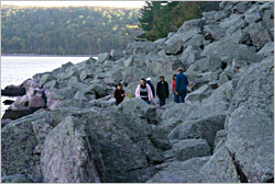 Tumbled Rocks Trail at Devil's Lake.