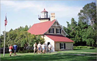 Eagle Bluff lighthouse in Door County.