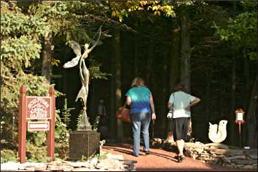 Sculpture garden at Edgewood Orchards.