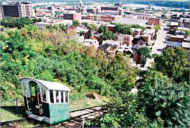 The Fenelon cable railway in Dubuque.