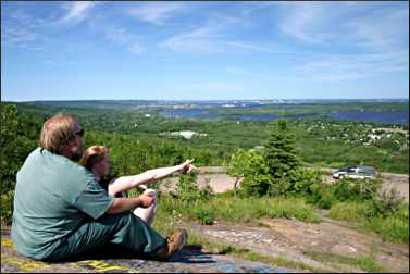 The view from Bardon's Peak in Duluth.