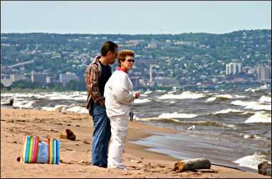 Park Point beach in Duluth.