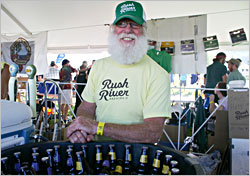 Sampling at the Rush River booth.