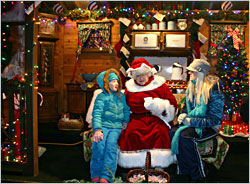 Mrs. Claus at Bentleyville.